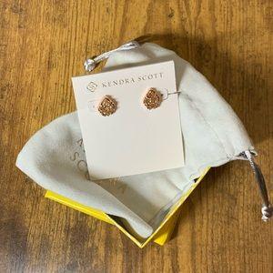 Kendra Scott Tessa Rose Gold Earrings in Drusy
